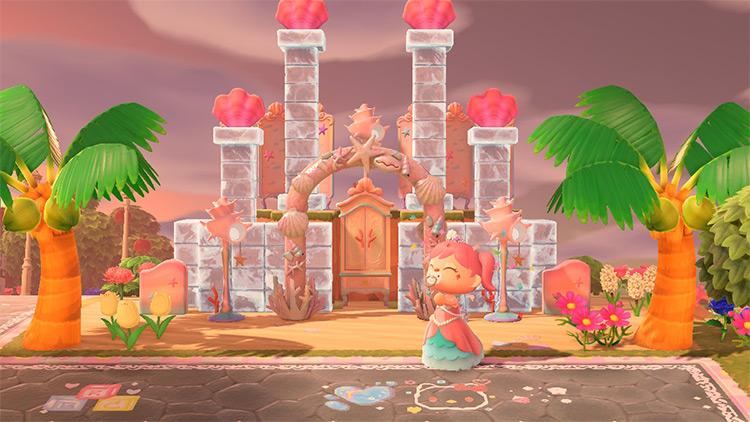 Mermaid Castle Design in ACNH