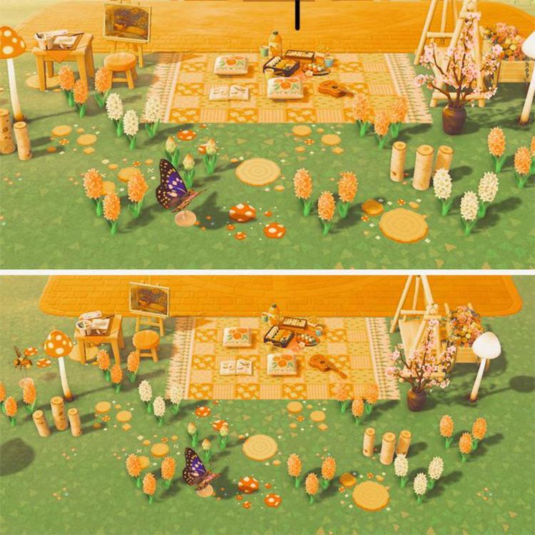 Fairycore-themed Picnic Area in ACNH