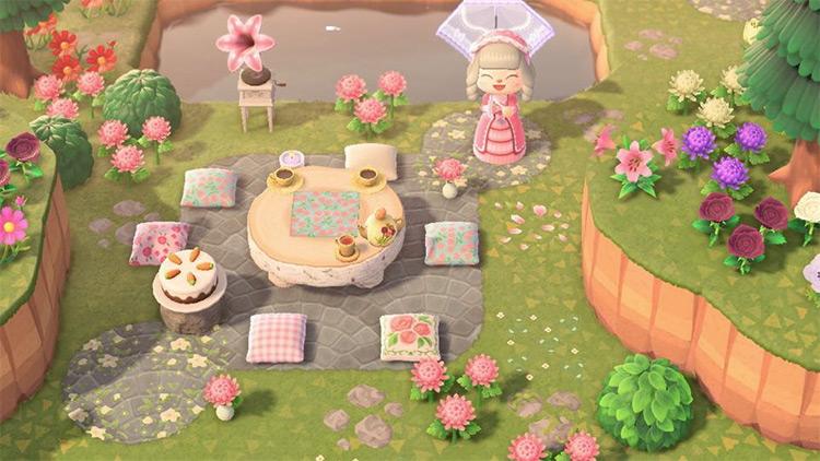 Tea Party and Picnic Spot - ACNH Idea