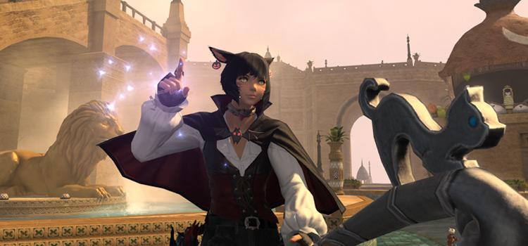 Magical Character Casting - FFXIV Pose Screenshot