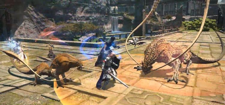 Temple of Fists Coeurl Battle - FFXIV Screenshot
