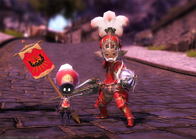 Red Battle Guard Tank Glams in FFXIV