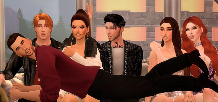 TS4 Party Pose Screenshot