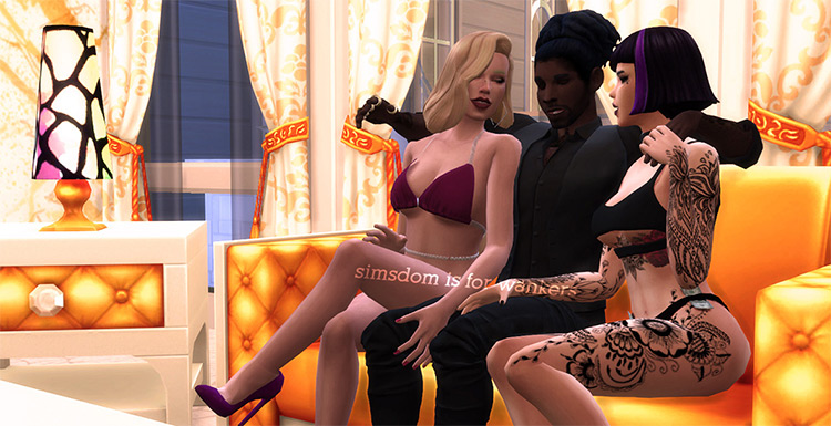 Bachelor Party Poses Pack - TS4
