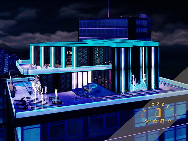 Luxury Lounge and Club Lot - TS4 CC