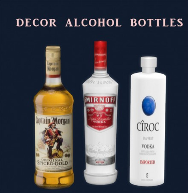 Alcohol bottles Smirnoff CC for The Sims 4