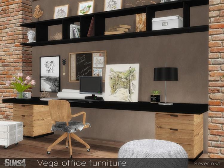 Vega Office CC set for The Sims 4