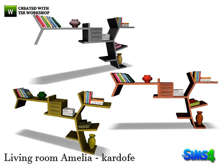 Amelia custom shelving units CC - Sims 4