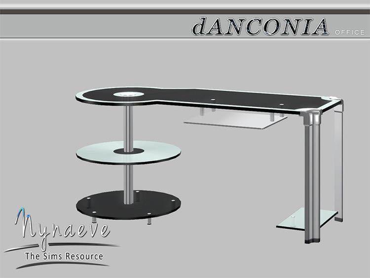 Futuristic Desk CC for Sims 4