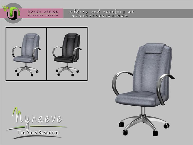 Basic desk chair CC for Sims 4