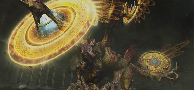 Hell Wyrm boss fight in Zodiac Age