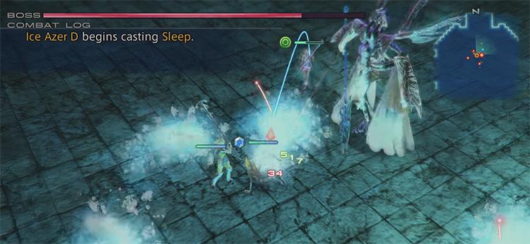 Mateus boss battle screenshot - FF12 TZA