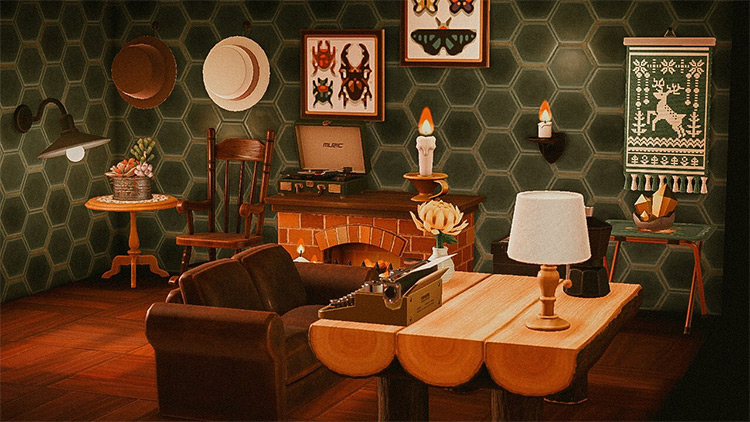 Writers Solitude Area Cabin in ACNH