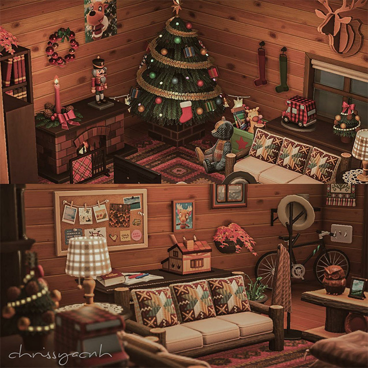 Winter holiday hideout cabin idea - ACNH