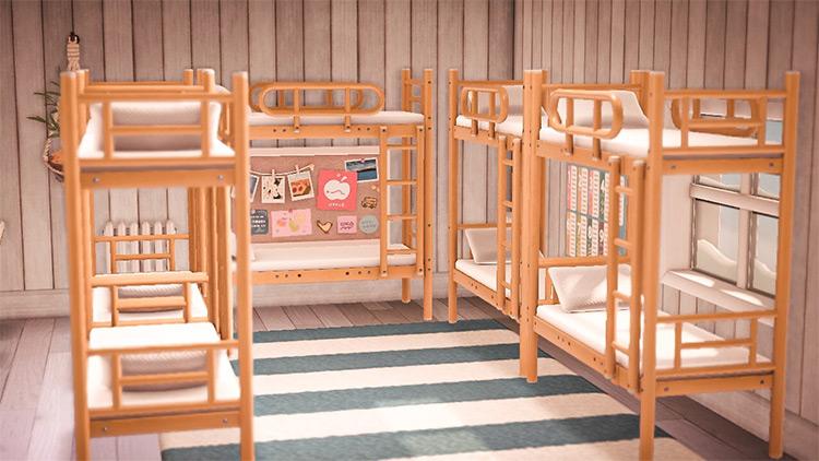 Summer camp cabin bunks - ACNH Idea