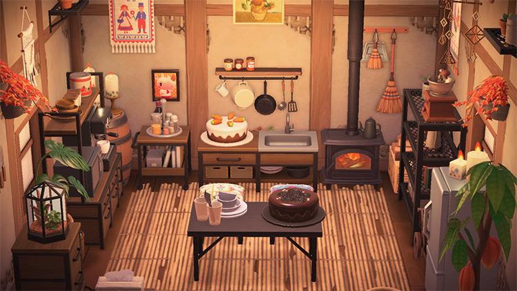 Cabin Cottage Kitchen Idea - ACNH
