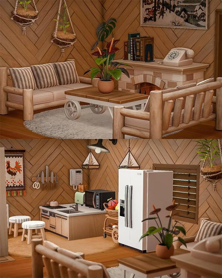 Premium log cabin idea for ACNH