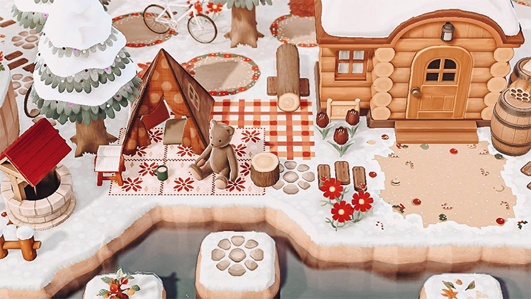 Winter campsite idea for ACNH