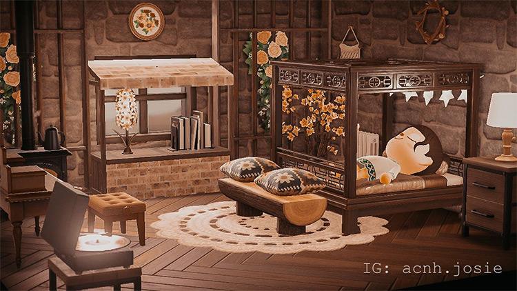 Cottage bedroom design idea for ACNH