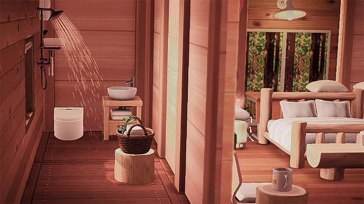 Bedroom with Master Bath - ACNH Idea