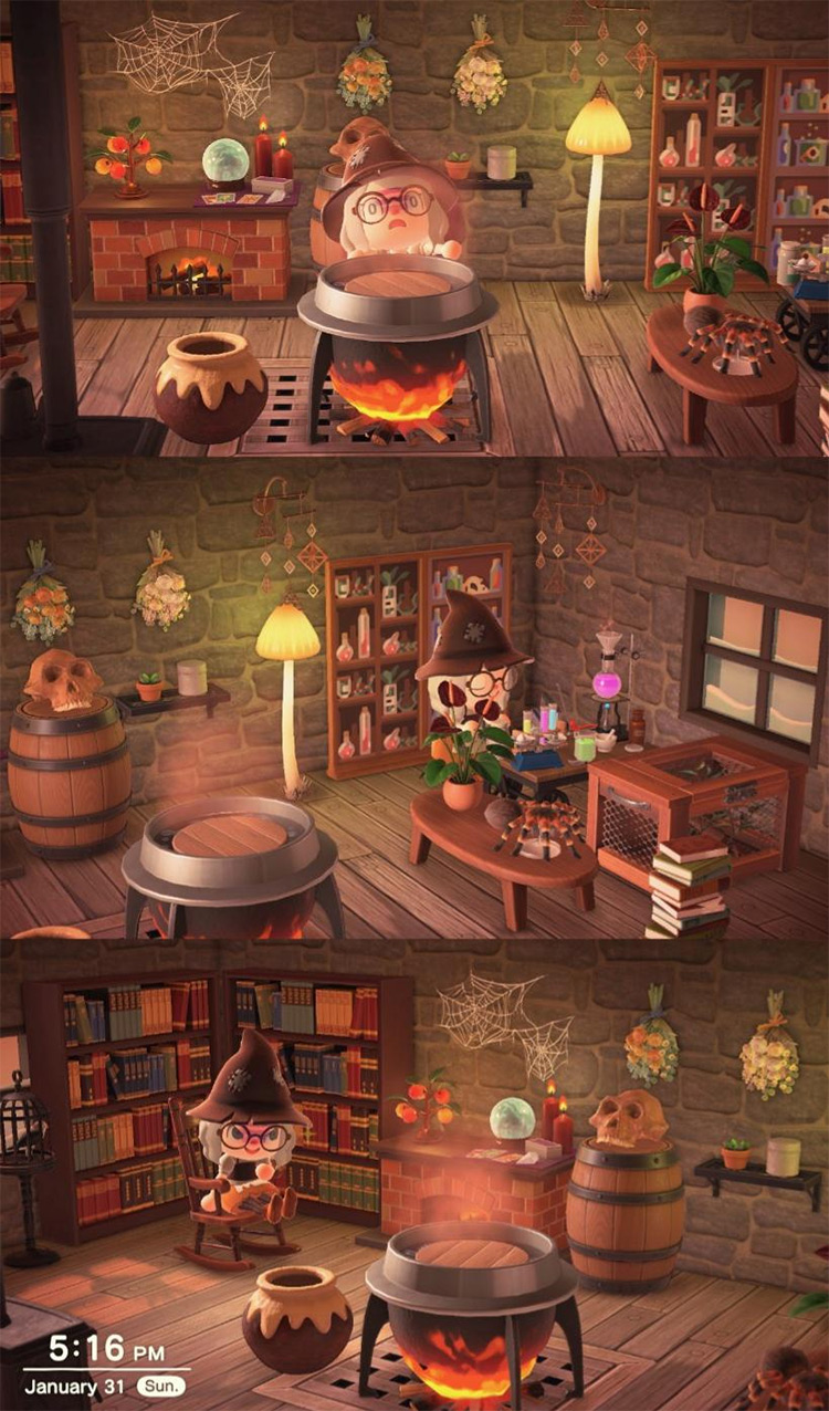 Witches hut design in ACNH