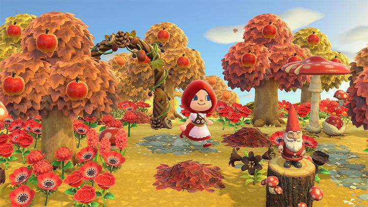 Little Red Riding Hood Autumn Forest - ACNH Idea