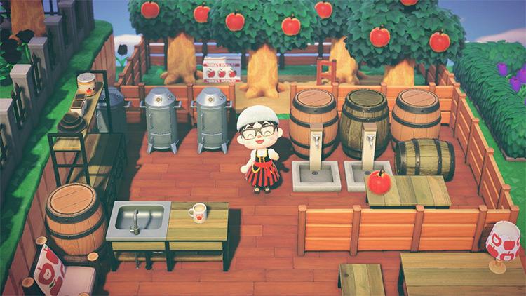 Custom Apple Cider Brewery Idea in ACNH