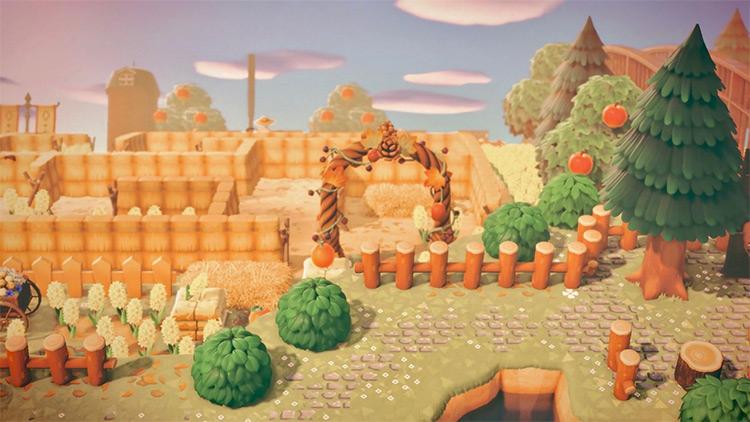 Autumn corn maze entrance design - ACNH Idea