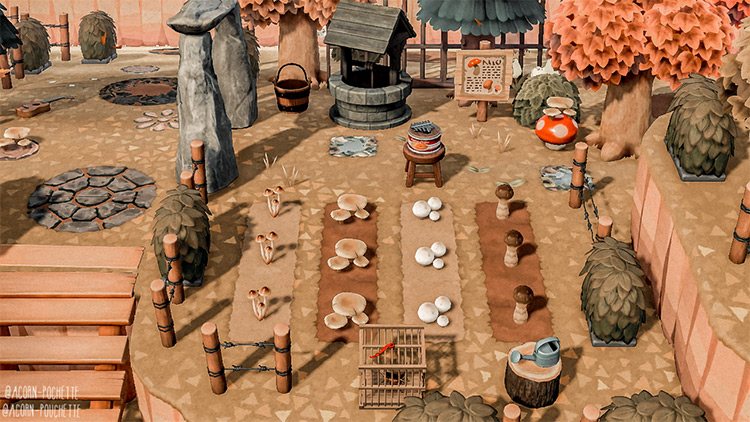 Fall mushroom farm build - ACNH Idea