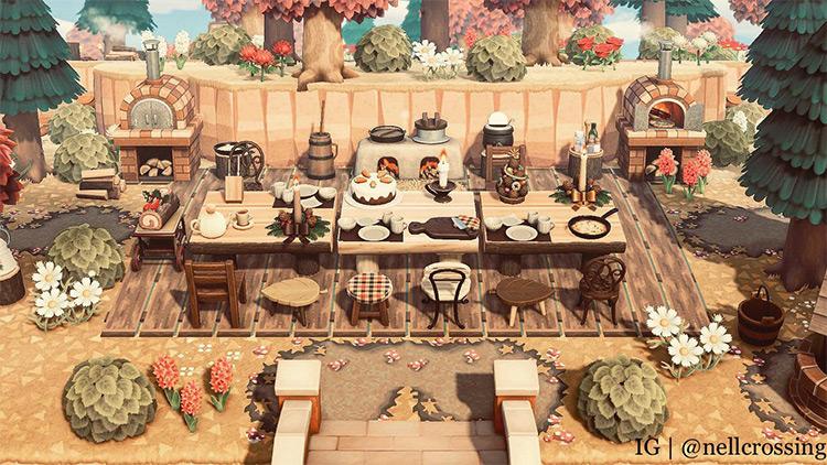 Autumn Turkey Day Feast Idea - ACNH Screenshot