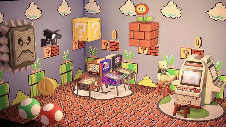 Custom Super Mario Arcade Room in ACNH
