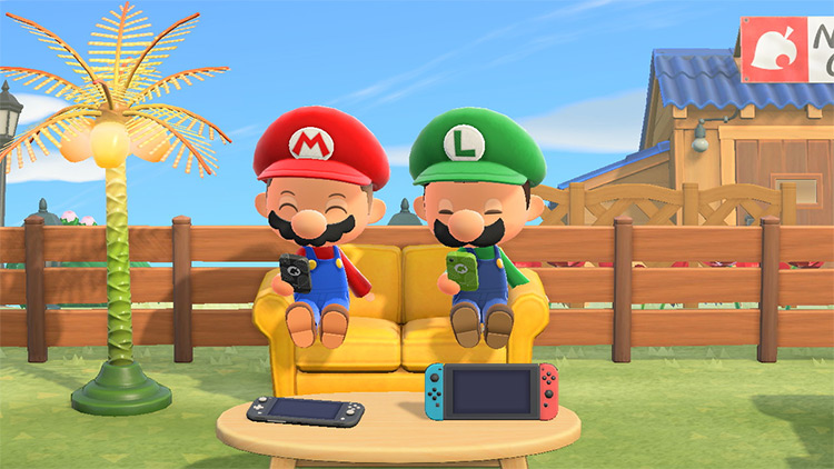 Mario Switch Gaming Couch in ACNH