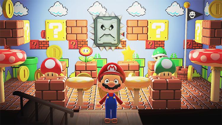 Mario lounge room design in ACNH