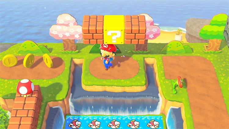 Mario waterfall with cheep cheep - ACNH Idea