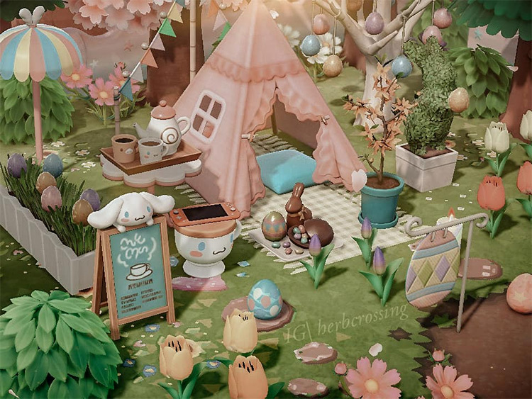 Bunny day pastel forestcore campsite