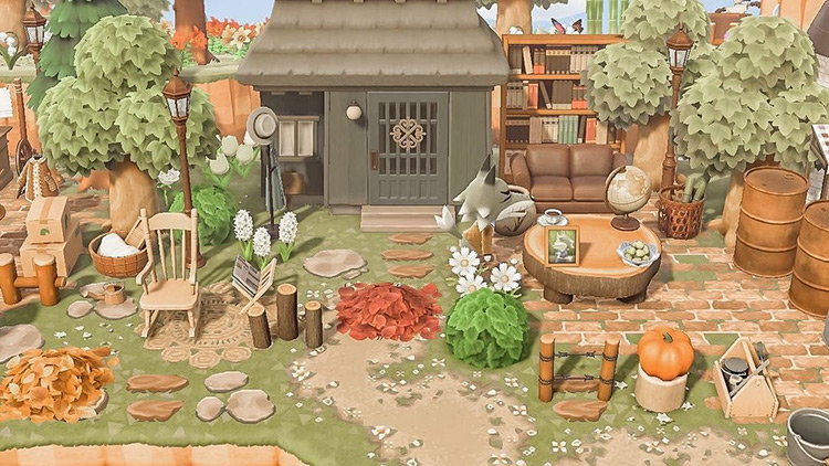 Wolf villager forest cottage - ACNH Idea