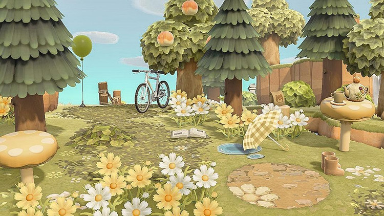 Daisy flowers in the forest - ACNH Idea