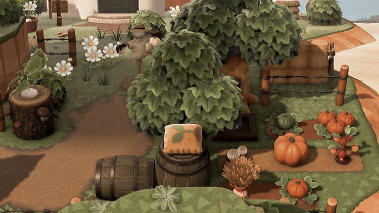 Tiny farm area in the forest - ACNH Idea