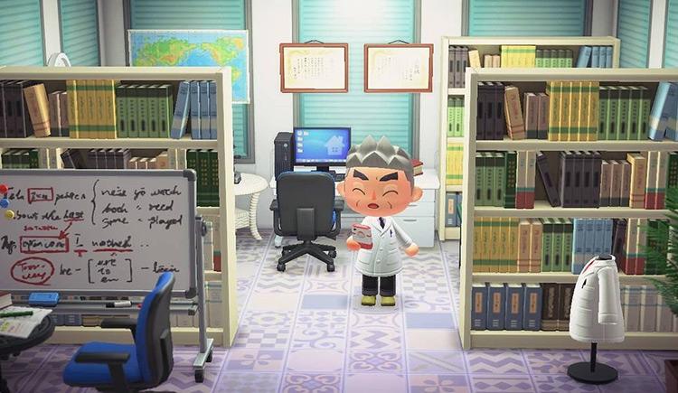 Professor Oak Pallet Town Lab Interior in ACNH