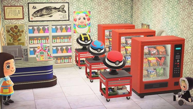 Pokemart room interior in ACNH