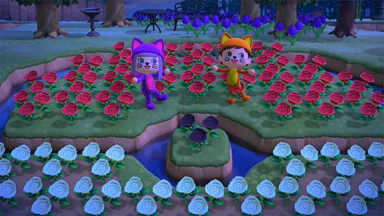 Pokéball Lake with Flowers in ACNH