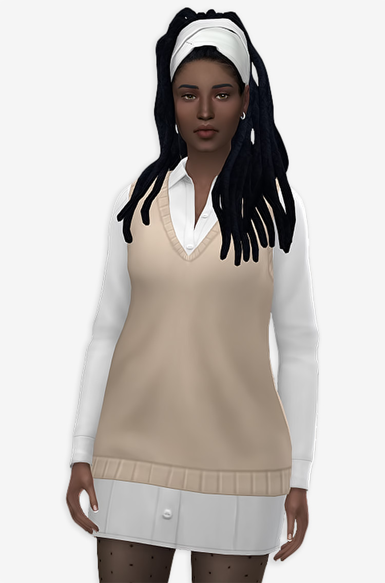 Dressy classy simple girls dress CC - TS4