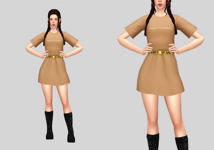 Shirt and belt-style Dress CC - TS4