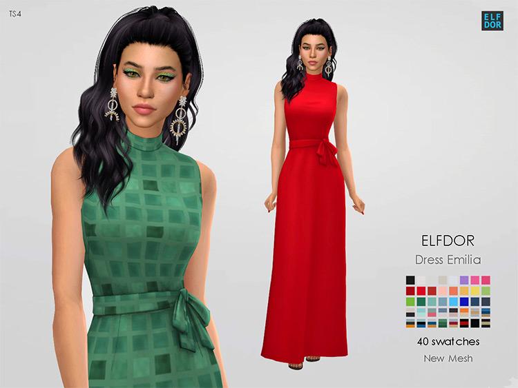 Long flowing Emilia Dress CC - TS4