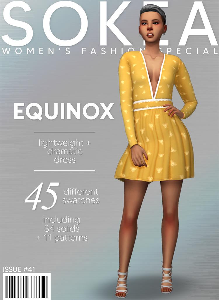 Fashionable yellow Equinox Dress CC - TS4
