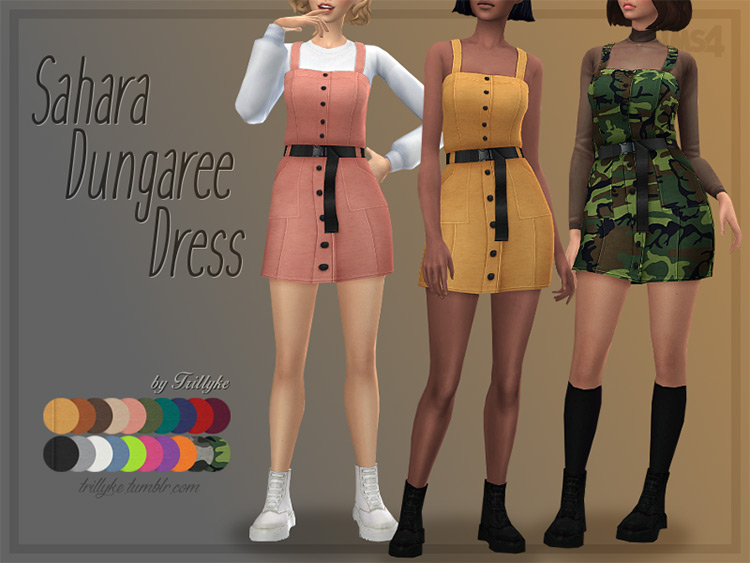 Shorts-style dress CC for TS4