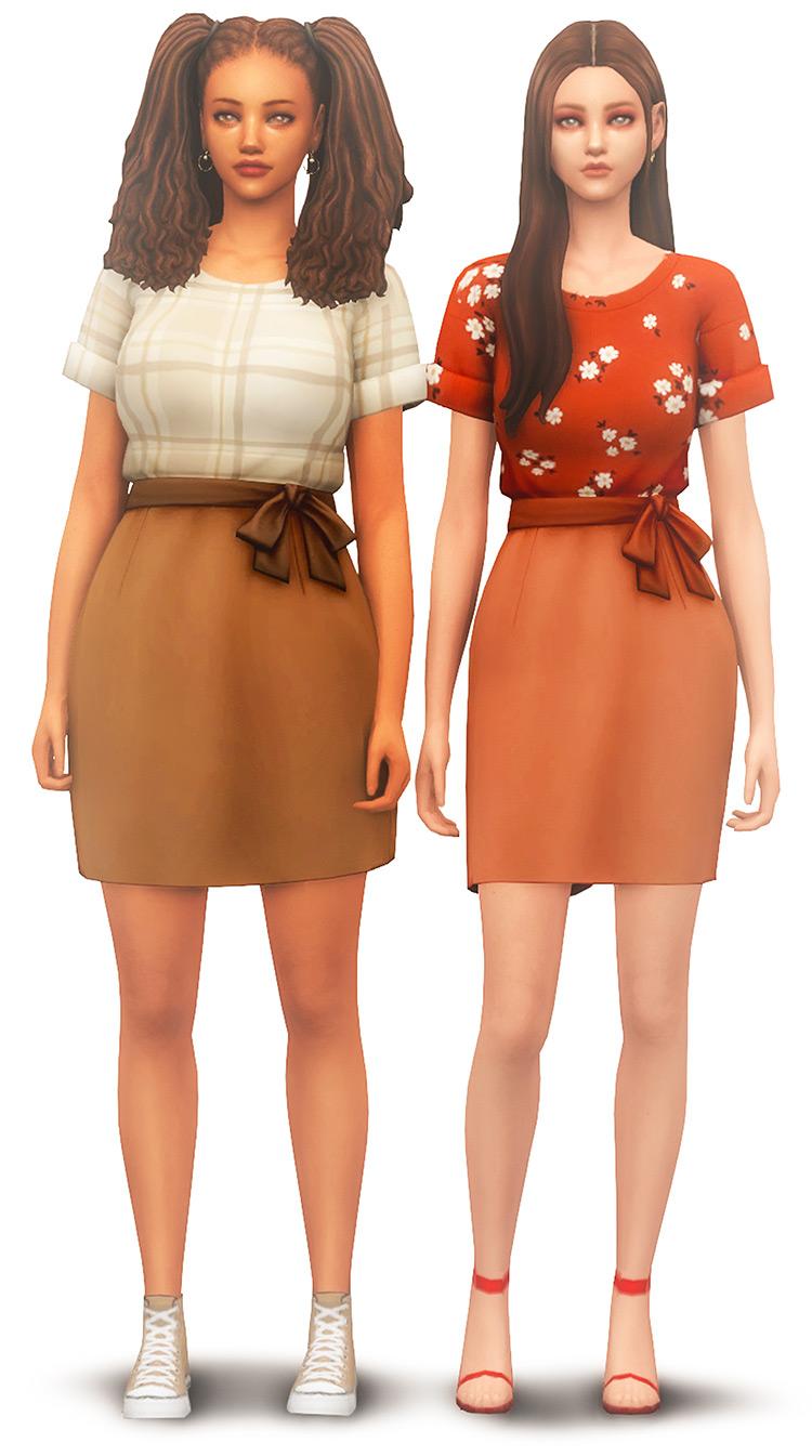 Basic and simple knee-length dress CC - tS4