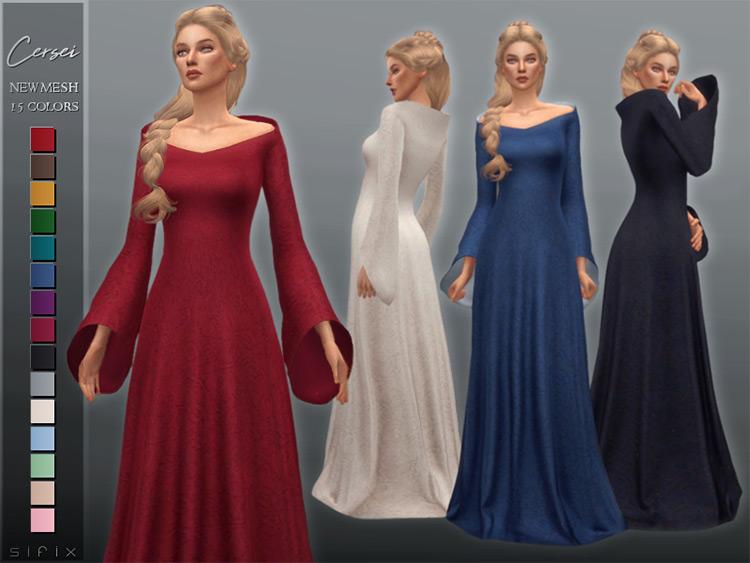 Fancy maiden Cersei dress CC - TS4