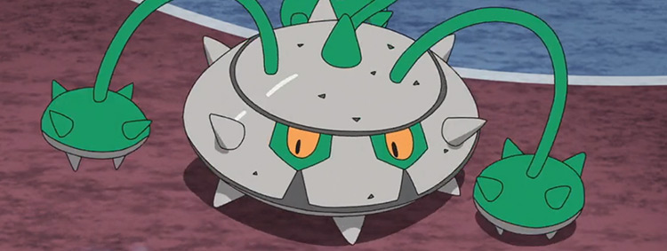 Ferrothorn (Grass/Steel) Pokémon anime screenshot