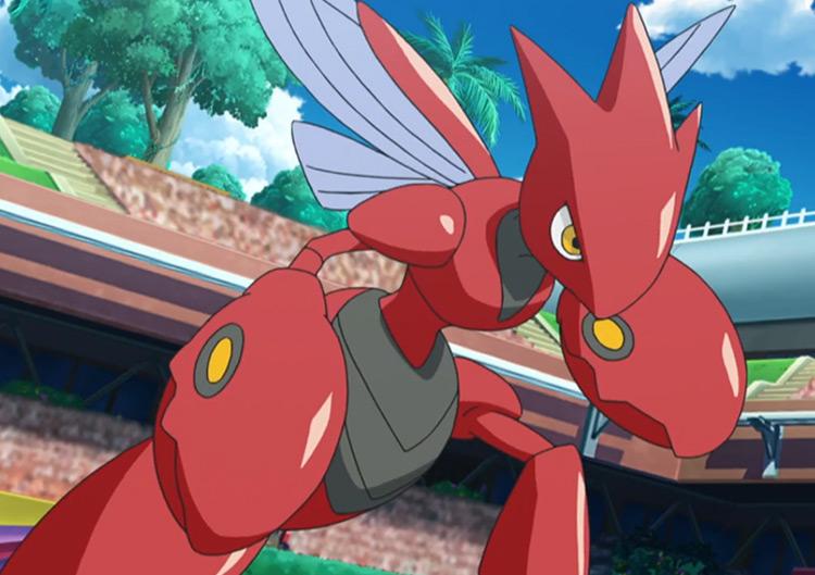 Scizor (Bug/Steel) in the Pokémon anime